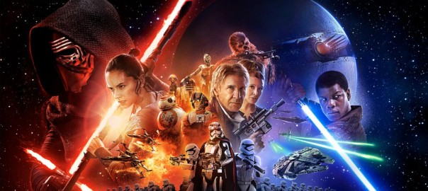 Star Wars - The Force Awakens. Filmaffisch.