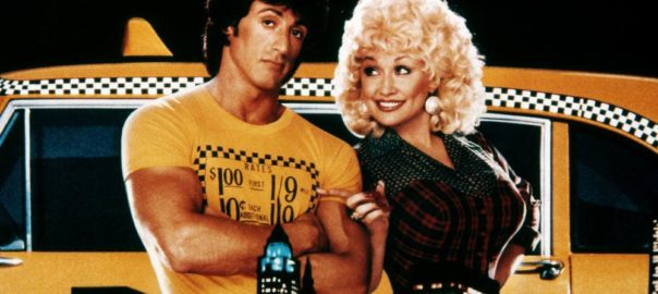 RHINESTONE, from left: Sylvester Stallone, Dolly Parton, 1984, TM & Copyright © 20th Century Fox film Corp.